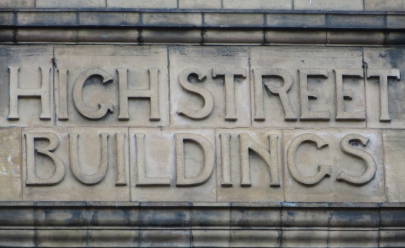 HIGH STREET BUILDINGS CARVED TYPE